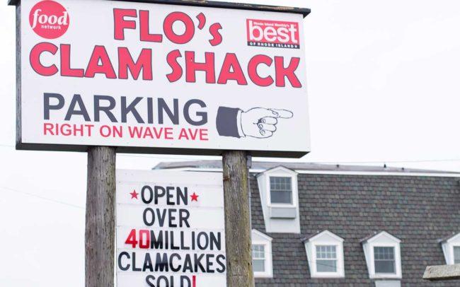 Flo's Clam Shack, seafood, restaurant, Rhode Island, seafood restaurant, sign, signage