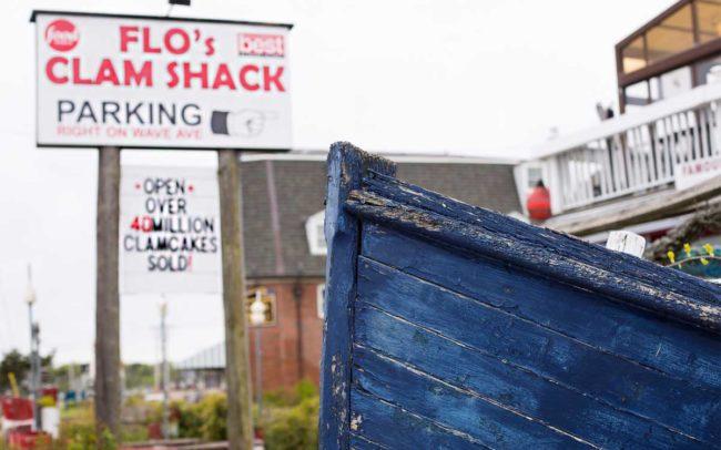 Flo's Clam Shack, seafood, restaurant, Rhode Island, signage, sign